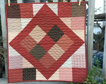 Red Square Wall Quilt