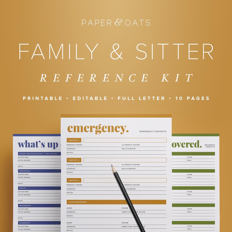 Family Planner Binder Mom Planner PDF Household Binder