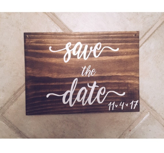 Save the Date Sign Announcement | Save our date sign