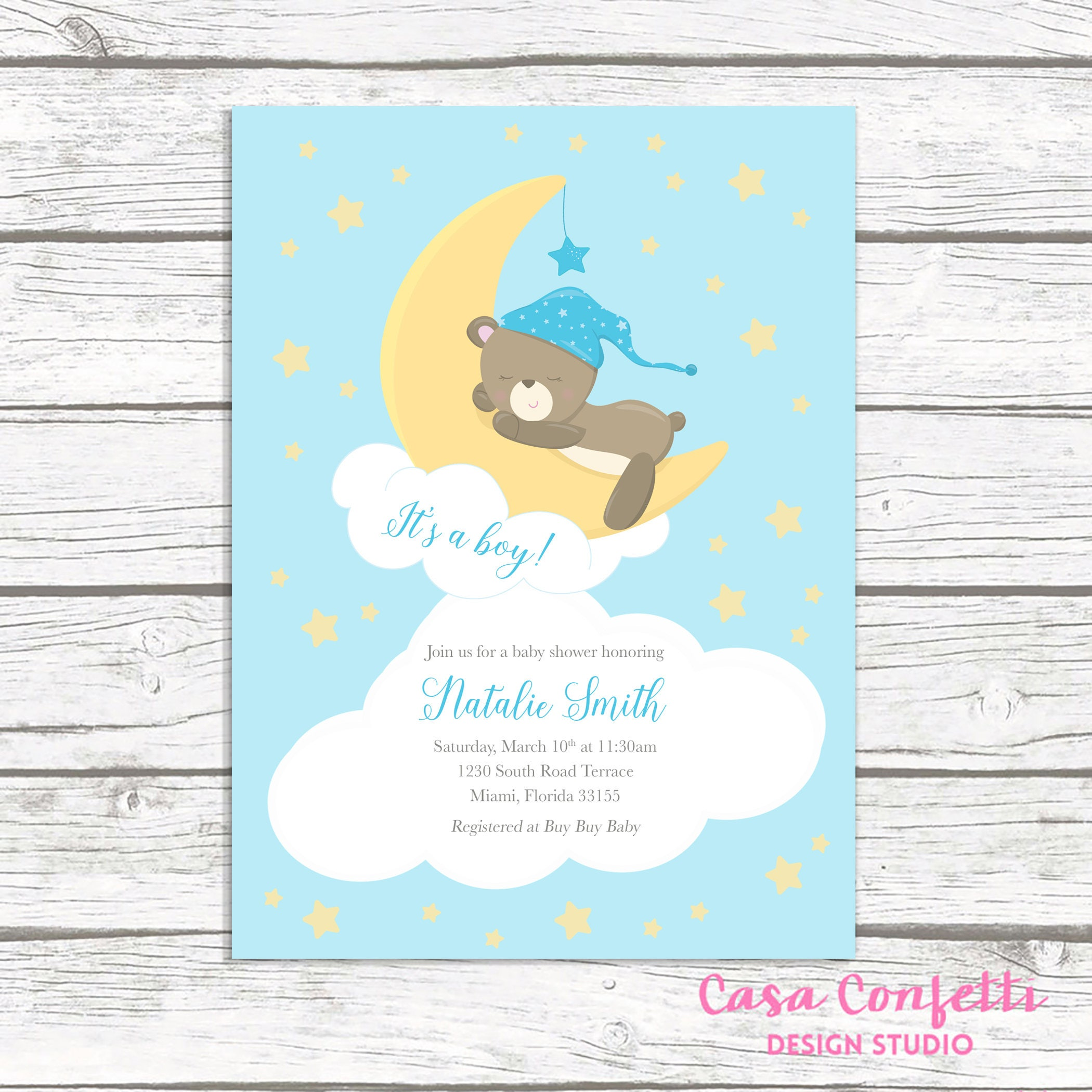 Moon baby shower invitation boy teddy bear baby shower invitation moon baby shower invitation boy teddy bear baby shower invitation its a boy baby shower invitation moon and stars baby shower invite filmwisefo Choice Image