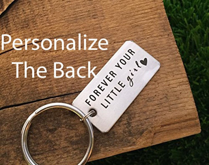 Forever Your Little Girl Keychain Dad Wedding Gift Your Little Girl Wedding Date Keychain Dad Gift Idea for Wedding For Dad on Wedding Day