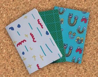 Study Budy Set of Three Notebooks A6