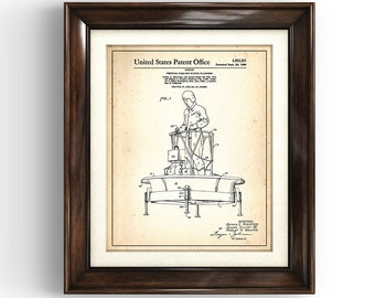 VERTICAL Take-Off Flying Platform   1960   Patent Print   Flying Machine   Alternative Aircraft Tech   VTOL Print    Alt Tech Art Print