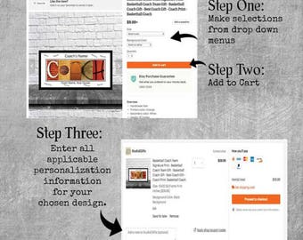 Please follow the above steps to personalize any items in our shop.