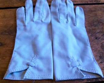 Blue vintage gloves, Vintage gloves for wedding/prom/costume