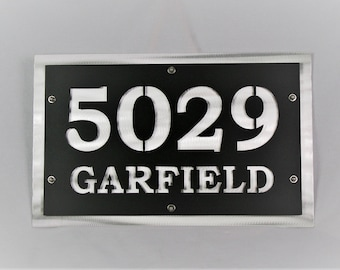 Custom Color Name Address Sign, Customized House Number or Name Sign, Personalized Name Sign, Name and Address Number, Metal Address Sign