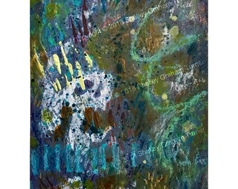 "Original Painting - ""Urban Jungle"" - Abstract - Mixed Media on Paper #GP18-017"