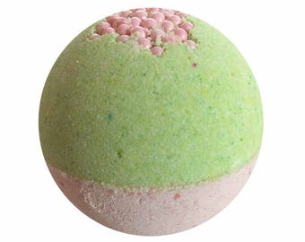 Sweet Pea Bath Bomb, Bath Fizzy, Handmade Spa Product, Epsom Salts, Hydrating Coconut Oil, Sensitive Skin, Great Gift for Her