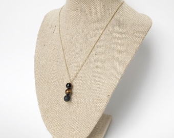 Tiger Eye Lava Stone Essential Oil Diffuser Necklace Gift For Her Healing Crystals Diffuser Jewelry Boho Jewelry Minimalist Necklace