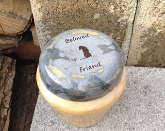 Large Dog Urn with Pet Loss Quote
