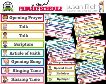Visual Primary Schedule PRINTABLE