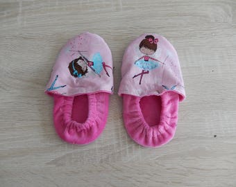 """Slippers soft flannel and cotton """"fairies"""""""