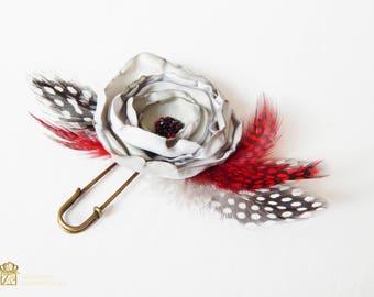 Brooch flower, Silk dahlia, Handmade brooch, Bridal brooch, Fabric Brooch Flower Corsage Pin Brooch, Handmade brooch, Shawl Pin