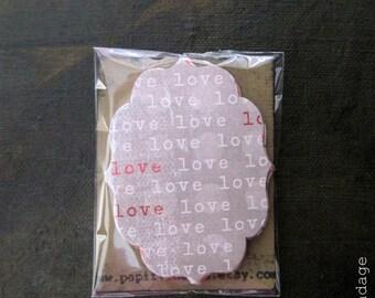 22 Valentine Tags, Parti favorable à Valentine Tags, Valentine s'épanouir Notecards, rose, rouge Tags, Tags de Valentine de s'épanouir, décorations de Saint Valentin