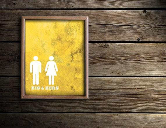 Bathroom Wall Art Bath Prints Yellow Bathroom Art His &
