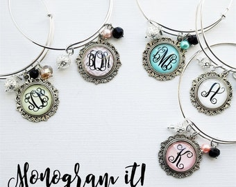 Simple Elegance | Monogram Bangle
