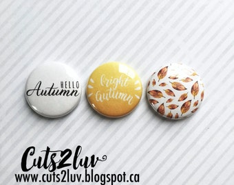 """3 buttons 1 """"Bright autumn"""
