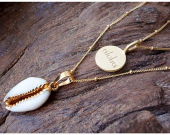 Shell Necklace, bohemian jewelry, layering necklace, necklace, gift for her, boho necklace, beach necklace, statement necklace