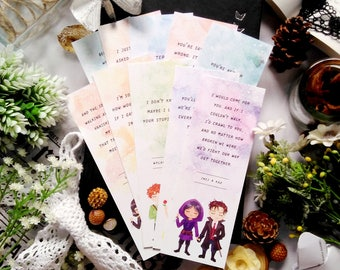 Set of 10 scented bookmarks