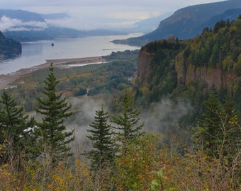 Mist Over the Columbia Gorge—Photo Print or Canvas Gallery Wrap