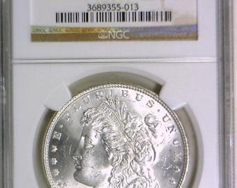 1883 Morgan Dollar NGC MS-64; Frosty White!