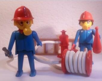 PLAYMOBIL / firemen 2 / city / fire / Vintage
