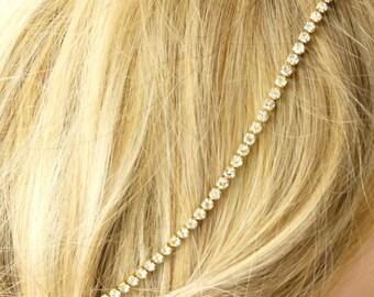Bridal Headband, Wedding Headband,  Rhinestone , Wedding Trends Hair Halo