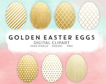 Gold Easter eggs clipart, Easter photo overlay, gold eggs clipart overlay, Easter party invitations, custom logo, commercial use