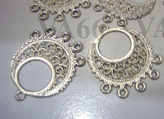 Diy filigree lace chandelier earrings parts hoops loops 12pc aloadofball Choice Image