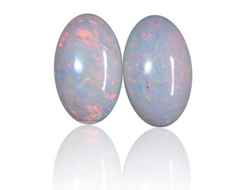 0.14ct Matching Pair Solid White Australian Opals Coober Pedy , Natural Untreated Loose Opal Piece SKU: 1943A005