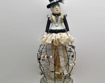 Day Dream Believer online art doll making class and kit by julie haymaker