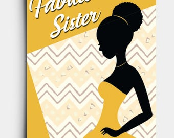 Fabulous Sister - Greetings Card