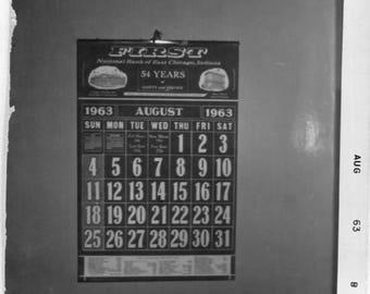 Vintage Photo of Calendar Page, 1960's Original Found Photo, Vernacular Photography