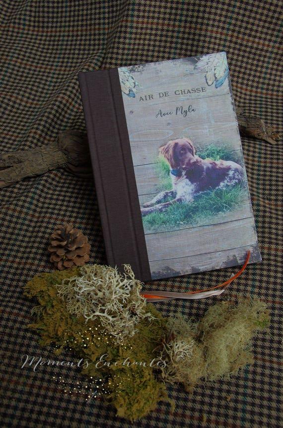 Votre chien de chasse sur la couverture de votre carnet de chasse