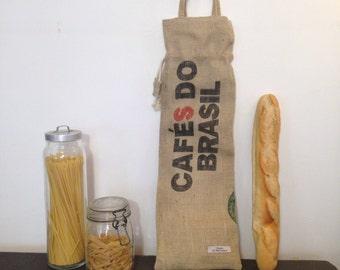bread bag , jute sticks hand made south of france