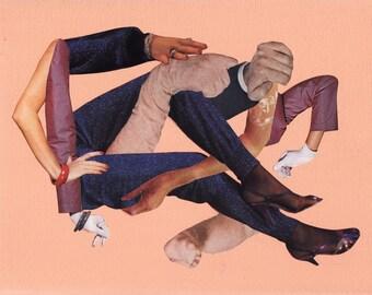 entitlement – SALE - collage on canvas