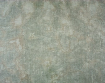 30 count Cross Stitch Fabric, Hand Dyed Evenweave Linen, Organic Hemp Fabric 27X18 Cool Greige Marble