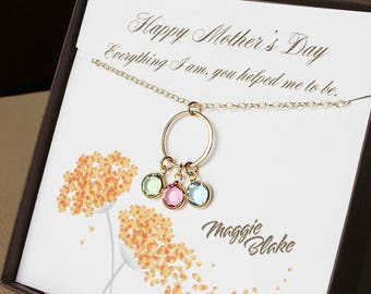 Mothers day necklace birthstone necklace for mom mothers day gift mother gift mother jewelry gifts for mom gift for mother poem for mom