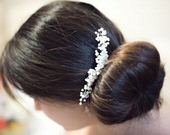Bridal hair comb,Pearl and Crystal Bridal Hair Comb, Wedding hair piece, Bridal hair accessory,