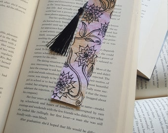 Beautiful Handmade Flowers and Vines Bookmark