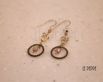 Light and elegant pendant earrings