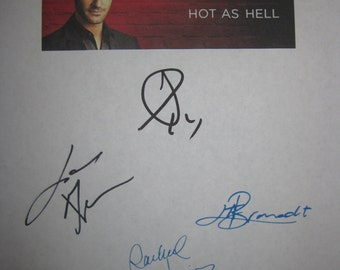 Lucifer Signed TV Script Screenplay x4 Autographs Tom Ellis Lauren German Lesley-Ann Brandt Rachael Harris signatures new tv show
