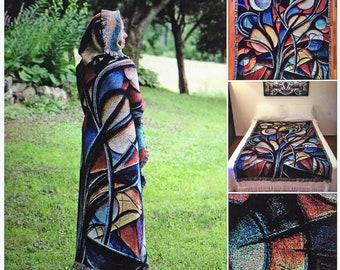 "Visionary Blanket ""Moon Tree"""