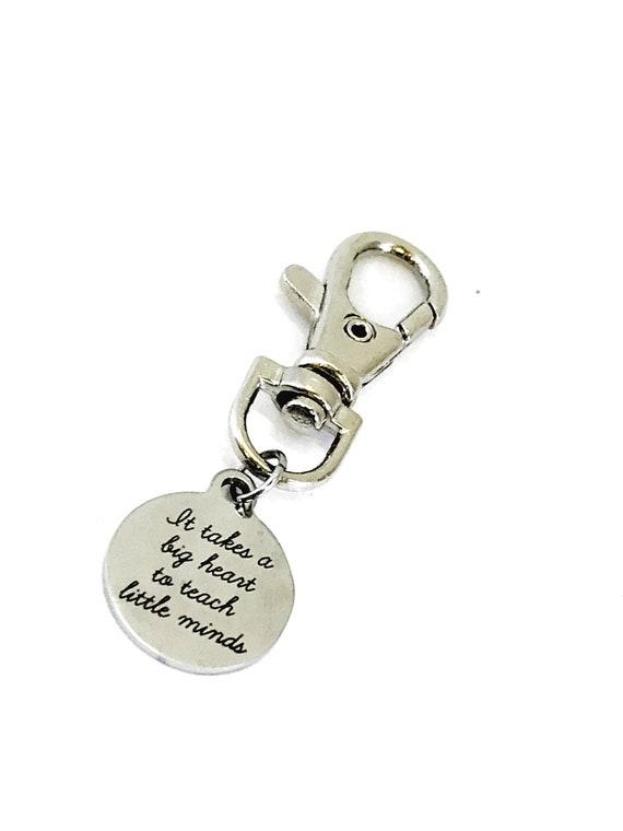 Teacher Bag Charm, It Takes A Big Heart To Teach Little Minds Charm, Teacher Gift, Purse Charm, Bag Tag, Teacher Appreciation, Teacher Charm