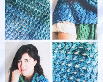 Soft Twilight Knitting pattern, SweetGeorgia Yarns knitting pattern perfect for Party of Five mini skeins, knitting pattern, shawl pattern