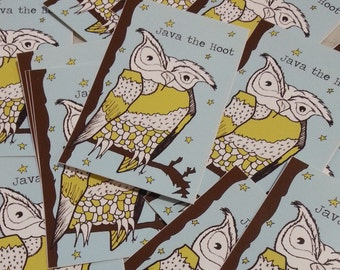 Java the Hoot Starry Night 2x3 inch Stickers Set of 3