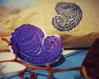 Block print Henna stamp (rubber)
