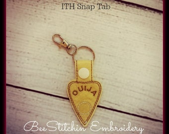 Ouija Planchette ITH Snap Tab - 4x4 Embroidery Design - INSTANT DOWNLOAD