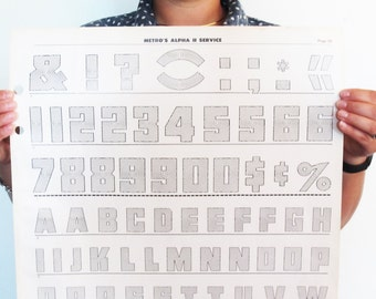 "Large Bulls-eye Typography Poster - Alphabet Numeral & Punctuation - Geometric - Modern Nursery Poster 16.5"" x 22"" (pg 28)"