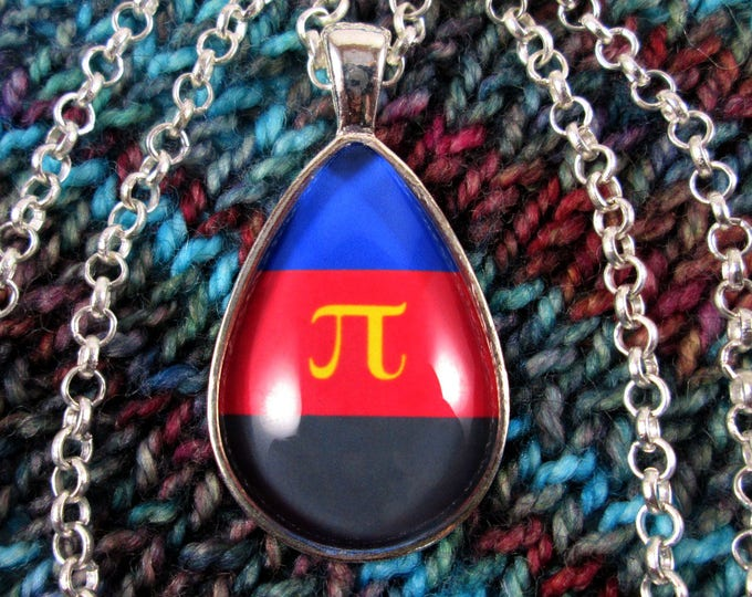 Polyamory Pride - Poly Pride Flag Pendant Necklace